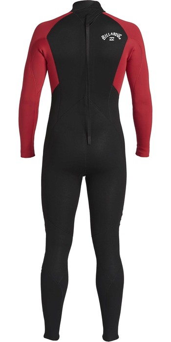 2021 Billabong Junior Intruder 4/3mm Back Zip GBS Wetsuit 044B18 - Red