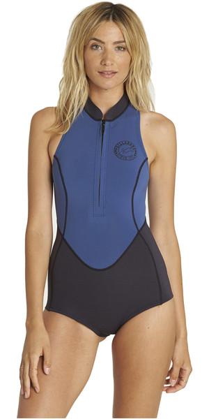 2018 Billabong Womens 1mm Sleeveless Front Zip Spring Wetsuit SEASIDE H41G05