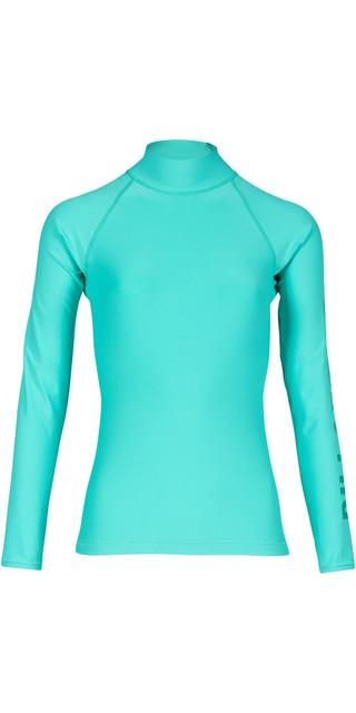 2018 Billabong Womens Logo Long Sleeve Rash Vest Pool Blue H4gy02 Picture