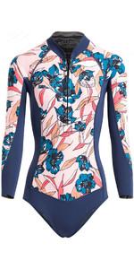 2018 Billabong Womens Salty Daze 2mm Long Sleeve Spring Shorty Wetsuit SLATE H42G11