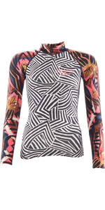 2018 Billabong Womens Surf Capsule Long Sleeve Rash Vest MULTI H4GY06