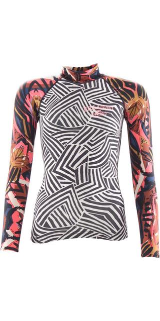 2018 Billabong Womens Surf Capsule Long Sleeve Rash Vest Multi H4gy06 Picture