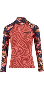 Billabong Womens Surf Capsule Long Sleeve Rash Vest PARADISE PINK H4GY06