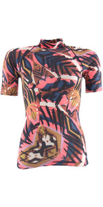 Billabong Womens Surf Capsule Short Sleeve Rash Vest TRIBAL H4GY05
