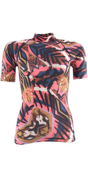 2018 Billabong Ladies Surf Capsule Short Sleeve Rash Vest TRIBAL H4GY05