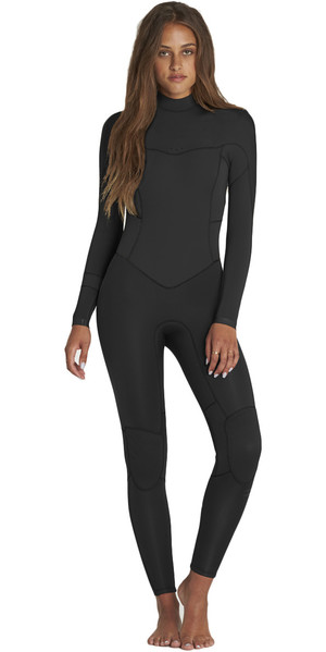 2018 Billabong Womens Synergy 3/2mm GBS Back Zip Wetsuit BLACK H43G11