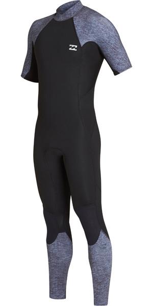 2019 Billabong Mens 2mm Furnace Absolute Back Zip Short Sleeve Wetsuit Grey Heather N42M29