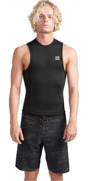 2019 Billabong Mens 2mm Furnace Absolute Neo Vest Black N42M27