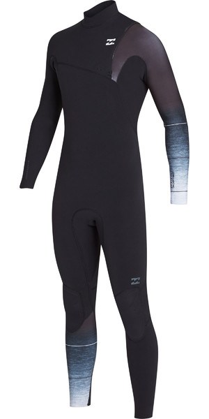 2019 Billabong Mens 2mm Pro Series Mute Zip petto nero Fade N42M01
