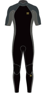 2021 Billabong Mens Absolute 2mm Back Zip GBS Short Sleeve Wetsuit W42M62 - Charcoal