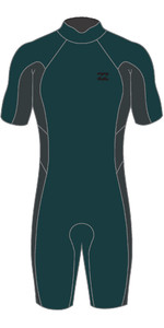 2021 Billabong Mens Absolute 2mm Back Zip Shorty Wetsuit W42M72 - Turquoise / Black