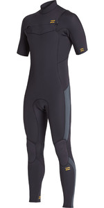 2021 Billabong Mens Absolute 2mm Chest Zip Short Sleeve GBS Wetsuit S42M65 - Antique Black