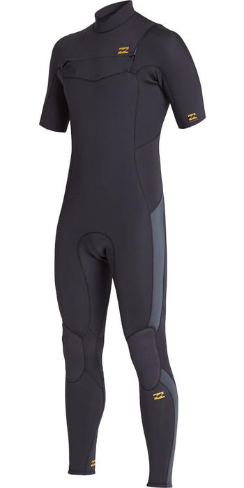 2021 Billabong Mens Absolute 2mm Chest Zip Short Sleeve GBS Wetsuit S42M65 - Antique Black