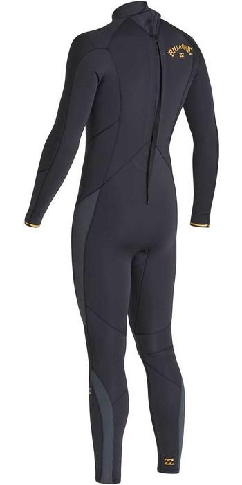 2020 Billabong Mens Absolute 4/3mm Back Zip GBS Wetsuit U44M59 - Antique Black