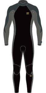 2021 Billabong Mens Absolute 3/2mm Back Zip Wetsuit W43M55 - Charcoal