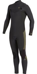 2021 Billabong Mens Absolute 5/4mm Chest Zip GBS Wetsuit U45M58 - Antique Black