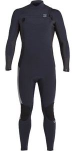 2020 Billabong Mens Absolute 4/3mm Chest Zip GBS Wetsuit U44M60 - Navy