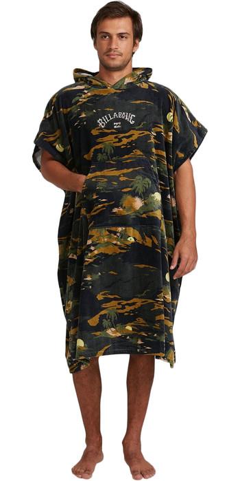 2021 Billabong Mens Change Robe / Poncho W4BR85 - Camo