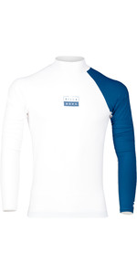 2019 Billabong Mens Contrast Long Sleeve Rash Vest White N4MY08
