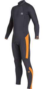 2019 Billabong Mens Furnace Absolute 4/3mm Back Zip Wetsuit Black Sand Q44M10