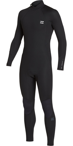 2019 Billabong Mens 3/2mm Furnace Absolute Back Zip Wetsuit Black / Silver N43M33