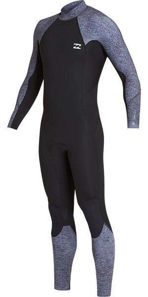 2019 Billabong Mens 3/2mm Furnace Absolute Back Zip Wetsuit Grey Heather N43M33