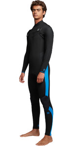 2019 Billabong Mens Furnace Absolute 4/3mm Chest Zip Wetsuit Blue Q44M09