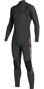 2019 Billabong Mens Furnace Absolute 4/3mm Chest Zip Wetsuit Camo Q44M90