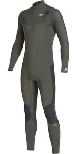 2019 Billabong Mens Furnace Absolute 5/4mm Chest Zip Wetsuit Olive Q45M09