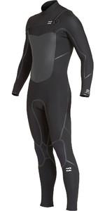 2019 Billabong Mens Furnace Absolute X 4/3mm Chest Zip Wetsuit Black Q44M08