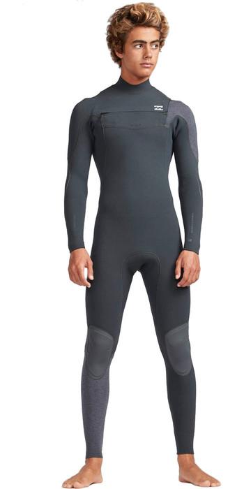 2019 Billabong Mens 4/3mm Furnace Carbon Comp Chest Zip Wetsuit Black Sands N44M01
