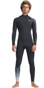 2019 Billabong Mens 3/2mm Furnace Carbon Comp Zip Free Wetsuit Black Fade N43M30
