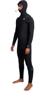 2019 Billabong Mens Furnace Carbon Ultra 7/6mm Hooded Chest Zip Wetsuit Black Q47M01