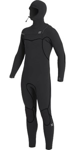 2020 Billabong Mens Furnace 5/4mm Chest Zip Hooded Wetsuit U45M52 - Black