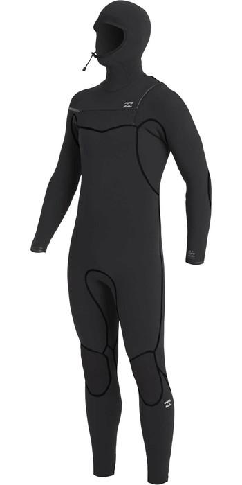 2020 Billabong Mens Furnace 6/5mm Chest Zip Hooded Wetsuit U46M50 - Black