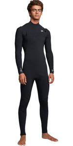 2019 Billabong Mens Furnace Comp 4/3mm Chest Zip Wetsuit Black Q44M03