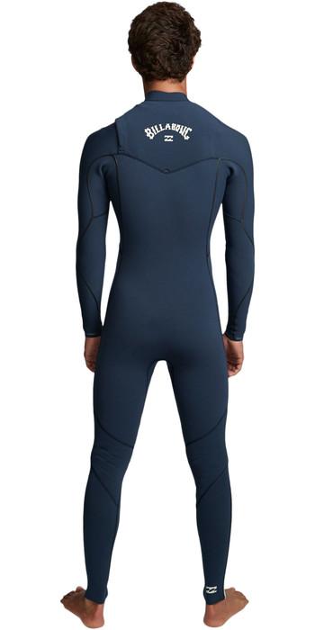 2019 Billabong Mens Furnace Comp 3/2mm Chest Zip Wetsuit Blue Q43M03