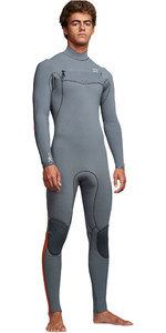 2019 Billabong Mens Furnace Comp 4/3mm Chest Zip Wetsuit Dark Grey Q44M03