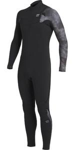 2020 Billabong Mens Furnace Comp 5/4mm Chest Zip Wetsuit U45M53 - Black Tie Dye