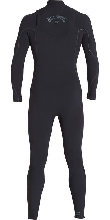 2019 Billabong Mens Furnace Comp 4/3mm Zipperless Wetsuit Black Q44M05