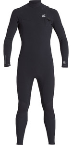 2019 Billabong Mens Furnace Comp 4/3mm Zipperless Wetsuit Black Q44M05
