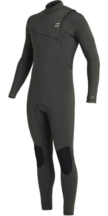2020 Billabong Mens Furnace Natural 5/4mm Zipperless Wetsuit U45M50 - Black Moss