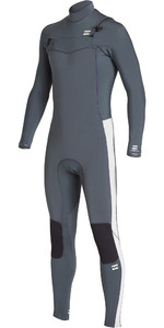 2019 Billabong Mens Furnace Revolution 4/3mm Chest Zip Wetsuit Gunmetal Q44M07