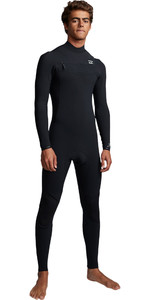 2019 Billabong Mens Furnace Revolution Pro 3/2mm Chest Zip Wetsuit Black Slub Q43M80