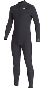2019 Billabong Mens Furnace Revolution Pro 4/3mm Chest Zip Wetsuit Black Q44M06