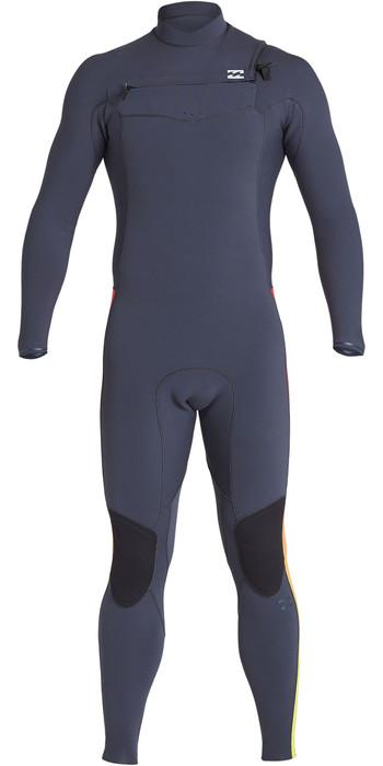 2019 Billabong Mens Furnace Revolution Pro 3/2mm Chest Zip Wetsuit Faded Q43M80