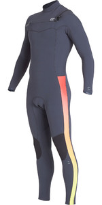 2019 Billabong Mens Furnace Revolution Pro 4/3mm Chest Zip Wetsuit Faded Q44M06