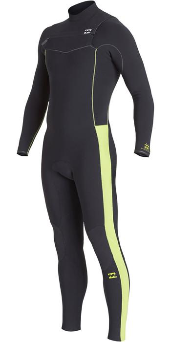 2019 Billabong Mens Furnace Revolution Pro 3/2mm Chest Zip Wetsuit Green Q43M80