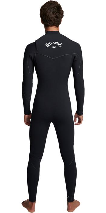 2019 Billabong Mens Furnace Ultra 3/2mm Chest Zip Wetsuit Black Q43M02