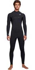 2019 Billabong Mens Furnace Ultra 4/3mm Chest Zip Wetsuit Black Q44M02